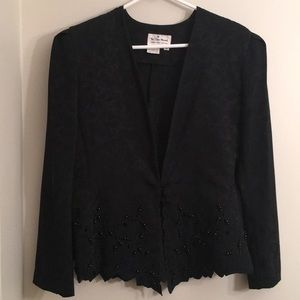 😍 Unique beaded and lace vintage blouse or jacket